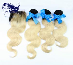China Blonde Human Hair Extensions on sale