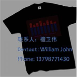 China EL T-Qualizer Shirts,EL T-Equalizer panel t-shirts,EL panel T-shirts on sale