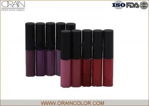 China Dark Color Style All Natural Lip Gloss Set , Fresh Moisturizing Lip Gloss on sale