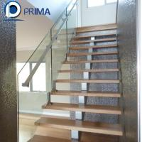 China Fashionable low cost exterior single beam straight stair with railing on sale