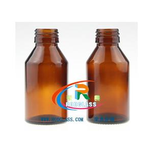 China 100ml amber pharmaceutical glass bottle for syrup,28mm on sale