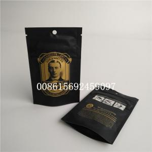 China Smell Proof Small Plastic Pouches Packaging Weeds Mylar Child Resistant Bag on sale