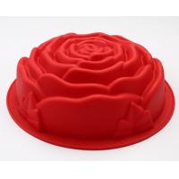 China Rose Shape Silicone Cake Moulds 178g For Cake Decoration , Baking Tool on sale