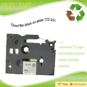 China laminated TZ tape 12mm tze231 label tape compatible brother p touch on sale