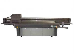 China Glass / Acrylic Board Flat Bed Printer , Uv Flatbed Leather Digital Printing Machine on sale