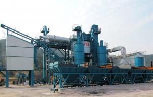 China 2 Aggregate Hoppers Asphalt Recycling Equipment , Asphalt Drum Mixing Plant Ebico Burner on sale
