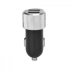 China Mini Dual Mobile USB Car Charger Aluminum Alloy Material 24.5g Weight on sale