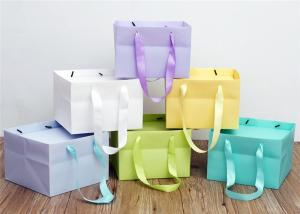 China Colorful Kraft Paper Shopping Bags For Packaging Cake / Gift Bag on sale