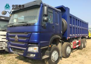 China Euro 2 371HP Heavy Load Truck 8x4 12 Tyre Front Lifting HOWO Tipper Truck on sale