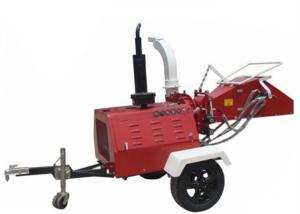 China 4 Cylinder Diesel Engine Wood Chipper 8 Inch Chipping Capacity CE Approval on sale