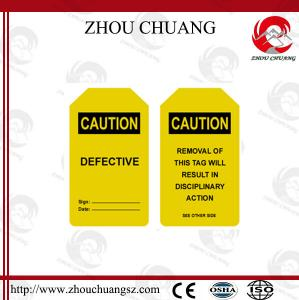 China Colored with Logo Hazard Warning Signs Customized Available Tagout Label on sale
