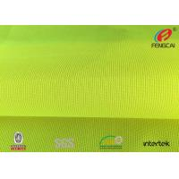 Durable Reflective Fluorescent Material Fabric , Green Reflective Fabric Clothing