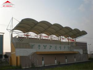 China 950gsm PVC Roof Tensile Membrane Structures For Communities And Schools on sale