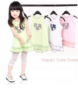China OEM 0-24M / 2-8Y Summer Cotton Baby Knitted Dress, Kids One Piece Sport Skirt on sale