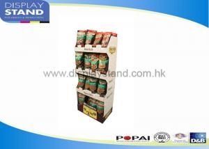 China Promotion Bumpingproof Pop Cardboard Displays SGS / ISO For Supermarket on sale