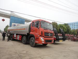 China factory sale best price Dongfeng 8*4 23CBM milk tanker truck, HOT SALE! 25,000Liters stainless steel liquid tank truck on sale