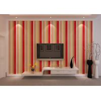 China Washable Striped Interior Room Wallpaper , PVC Embossed Wall Coverings on sale