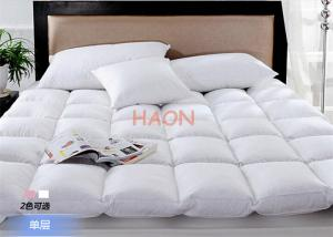 China Luxury Hotel Mattress Protector Filling With Duck Down / Goose Down , Hotel Mattress Pad on sale