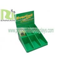 Battery cardboard counter displays with costomized size display stand ENCD069