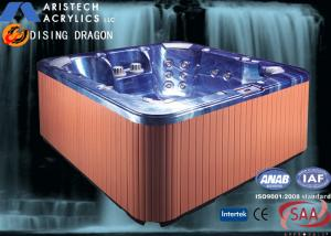Quality Portable Acrylic Massage Outdoor Bathtubs with 1 Cooling Seat, 1220 Liters Water for sale