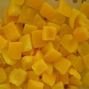 China Premium IQF Frozen Food , Fresh Individually Quick Freezing Yellow Bell Pepper on sale