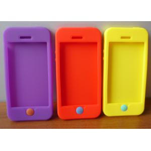China New arrival fashion purple / orange / yellow silicone iphone protective covers on sale