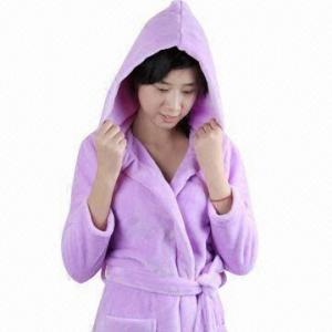 China 100% polyester bathrobe for women, reusable on sale