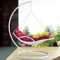 Premium Indoor Outdoor Furnitures PE Rattan White Day Bed Style Swing Hanging Chair