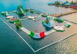 Seaside Resort Inflatable Water Park , Sea Floating Water Park With 2 Years Warranty