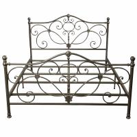China Bedroom Antique Antique Wrought Iron Bed Frame ,  Metal Furniture Bed on sale