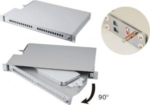 China 90 Degree Rotatable Fibre Optic Termination and Distribution Patch Panel For ODF on sale
