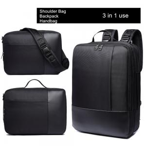 China Multi Function Nylon Business Laptop Backpack 3 In 1 For Working Professionals on sale