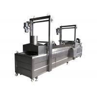 China Continous Conveyor Belt Beans Frying Machine Corn French Fries Frying Machine on sale