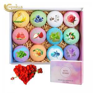 China 12 pcs Perfume 2.8 OZ Bath Bomb Gift Sets To Moisturizing Skin on sale