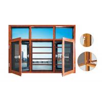 135 series aluminum thermal break casement  window with mosquito net hight quality window