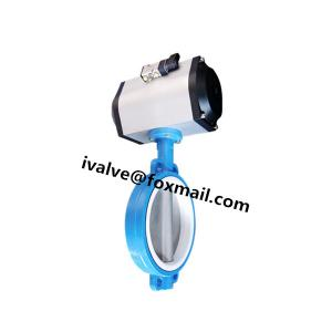 China Cast Iron Wafer Type Butterfly Valve With Actuator on sale