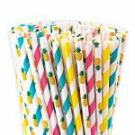 Food Grade Bleached Coloured Paper Straws With Harmless Non Toxic Ink