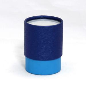 China Fashional Blue Paper Composite Cans with Transparent PVC Window and White Sifter for Talcum Powder on sale