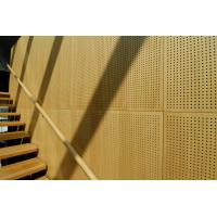 Auditorium Melamine Surface Wooden Perforated Acoustic Wall Panels