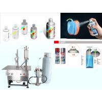 China Semi Automatic Graffiti Spray Paint Filling Machine 4000-5000cans/shift on sale