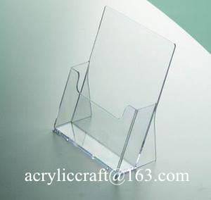 China Economic transparent tabletop A4 acrylic brochure holder on sale