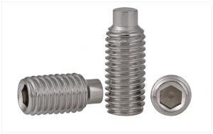 China DIN915 Metal Set Screws Stainless Steel , Headless Hex Socket Set Screw on sale