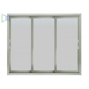 China Air Proof Sliding Aluminium Windows , 3 Tracks Aluminium Stacker Doors CSA Certification on sale