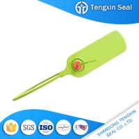 China TX-PS107 Bargain price adhesives sealants logo markable red/yellow/green 300mm security plastic seal on sale