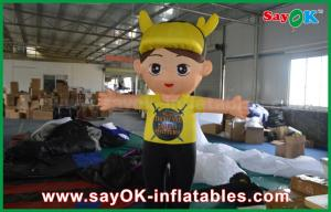 China Oxford Cloth Inflatable Cartoon Characters Yellow Boy Children For Advertising on sale