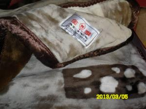 066e3abd8f Quality Warm 100% Polyester Double Ply Mink Blanket Thick Quilt For Travel    Military for ...