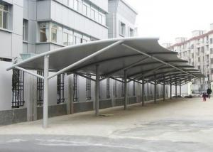 China Professional Tensile Membrane Structures Car Park Shade Structures Steel Cable Tightened on sale