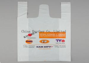 China Eco - Friendly PE Supermarket Shopping Bags , Plastic Handle Bags Packing Garment on sale
