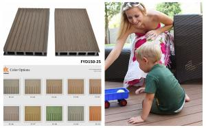 China CE certification WPC outdoor flooring 150*25mm on sale