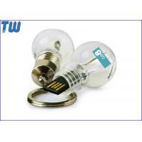 China Classic Acrylic LED Light Bulb Memory Drive 128GB Thumbdrive Stick on sale